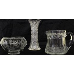 Collection of 3 glass items includes antique