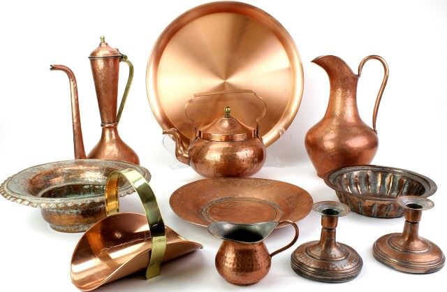 Large Lot Of Copper Kitchen Items
