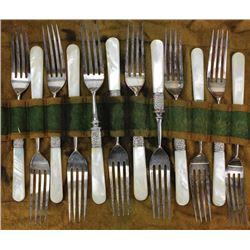 Antique 12 pc. dinner fork set