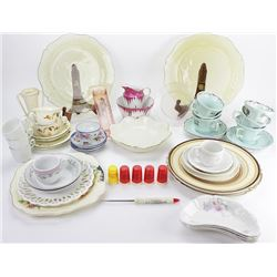 Collection of misc. china and advertising