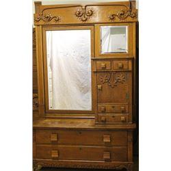 Antique high grade 2 piece bedroom set