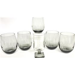 Set of 5 whiskey glasses with cut Frawley