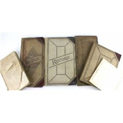 Collection of 6 misc. ledger books.