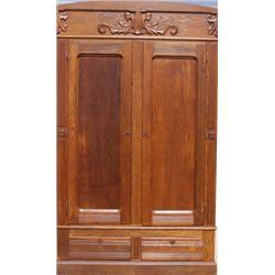 Oak double door knock down armoire on 2