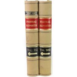 90 volumes Federal Reporter 1920's 212 thru 300.