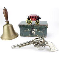 Collection of 4 includes vintage cowboy cap gun