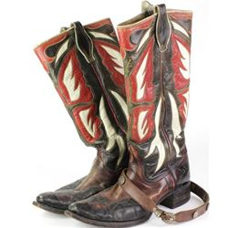 Collection of 2 includes Vintage custom cowboy