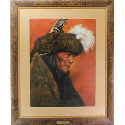 """Large framed print """"Shaman"""" by Don Marco"""