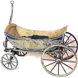 Early wood childs wagon with carriage style