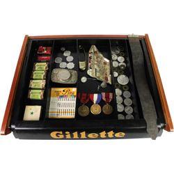 Counter top Gillett razors display case