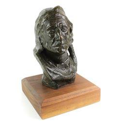 """""""Blackfoot Warrior"""" bronze bust"""