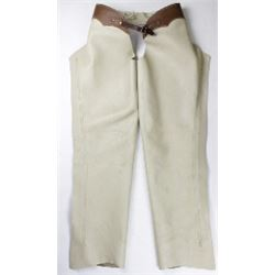 Pair leather chaps marked JW Robinson