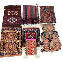 Collection of 6 hand woven textiles