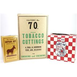 Collection of 3 Vintage tobacco boxes
