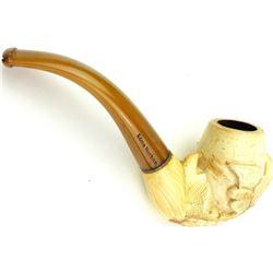 Fine carved antique Meerschaum pipe
