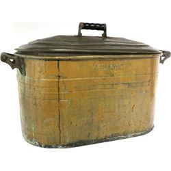 Large antique copper boiler by Atlantic