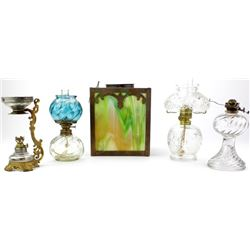 Collection of 5 miniature lamps,