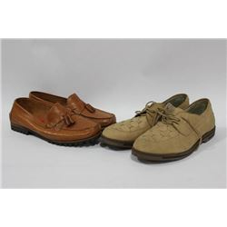 TWO PAIRS OF MEN'S SIZE 10 SHOES
