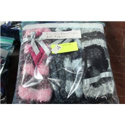 3PK OF MARY JANE STYLE SLIPPERS