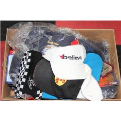BOX OF NASCAR COLLECTIBLES INCLUDES: DIE CAST CARS