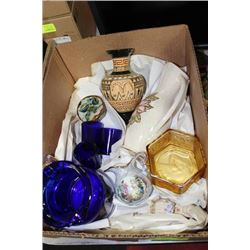 BOX W/ HAND MADE DECANTER FROM GREECE, DECORATIVE
