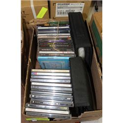 BOX W/ CD'S VARIOUS GENRES ALSO INCLUDED (2) FULL