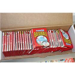BOX OF (34) SEALED PACKS OF 1991 FLEER BASEBALL