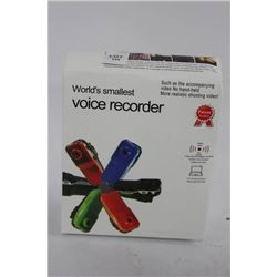 WORLDS SMALLEST VOICE RECORDER WITH VIDEO RECORDER