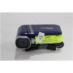 INSIGNIA HI-DEF VIDEO CAMCORDER W/CHARGE CORD
