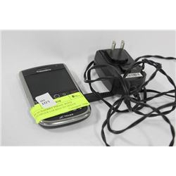 BLACKBERRY PHONE WITH CHARGER LOCKED TO TELUS