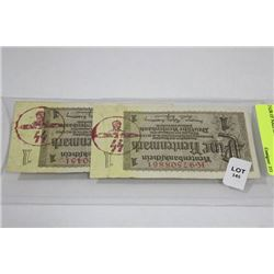 PAIR OF NAZI SS BANK NOTES