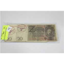 PAIR OF NAZI WAFFEN SS NOTES