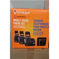 VONAGE MOTOROLA PHONE 3 PHONE SET