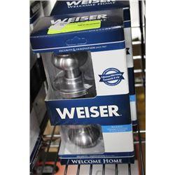 WEISER BED AND BATH ST STEEL HANDLE SET