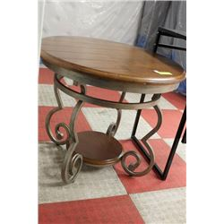 ROUND END TABLE WITH IRON BASE
