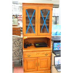 BIRCH STYLE HUTCH/CHINA CABINET