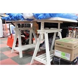 WHITE ADJUSTABLE TABLE