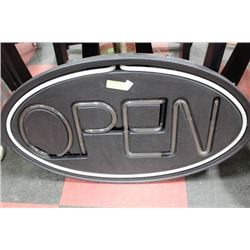 NEON OPEN SIGN, WORKING