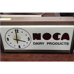 VINTAGE NOCA DAIRY PRODUCTS WALL CLOCK