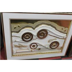 VINTAGE FRAMED ABSTRACT ART