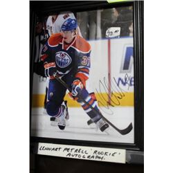 AUTOGRAPHED LENNART PETRELL ROOKIE FRAMED PICTURE