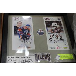 SIGNED PLAYOFF HEROES PISANI&KLIMA FRAMED PICTURE