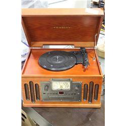 CROSLEY IPOD, MP3 ,CD/RECORD PLAYER