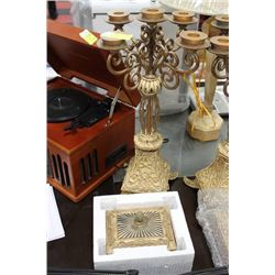 LARGE 5 CANDLE CANDELABRA  WITH JEWELRY BOX