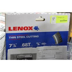 "LENOX 7 1/4"" TIN STEEL CUTTING WHEEL"