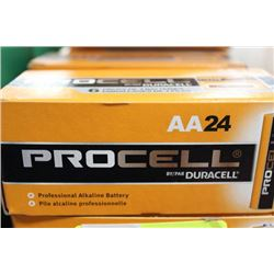 BOX OF 24 DURACELL 'AA' BATTERIES