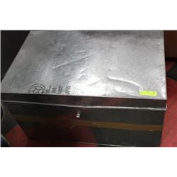 SET OF GALVANIZED STORAGE BOXES