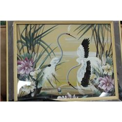 FRAMED HERON FRAMED PICTURE