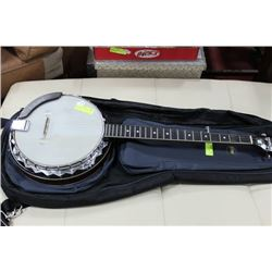 DEGAS BANJO 5 STRING BAG CASE W/ PICK-UPS