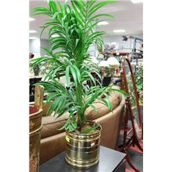 ARTIFICIAL PLANT W BRASS PLANTER ON CHOICE
